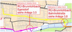 Verlauf der bevorstehenden Leitungsauswechslungen in Egersdorf